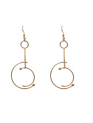Women's Drop Earrings Fashion Euramerican Alloy Oval Jewelry For Wedding Party Daily Casual Sports