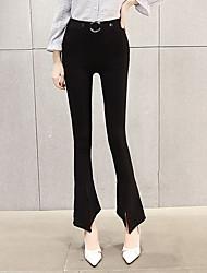 firmare la versione coreana di pantaloni gamba larga pantaloni svasati ms. nero era sottile sottile stretto della vita di modo marea lunga