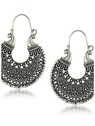 Women's Hoop Earrings Jewelry Circular Unique Design Vintage Costume Jewelry Alloy Round Jewelry For Party Daily Casual