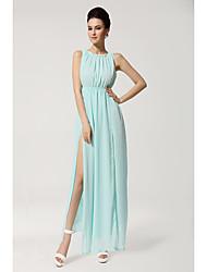 Evergreen printemps et été sexy robe divisée robe élégante en mousseline de soie en dentelle