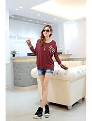 Hitz cotton long-sleeved t-shirt female Korean Women Slim compassionate Ladie
