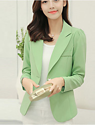 cheap -Women's Work Blazer - Solid Color, Print