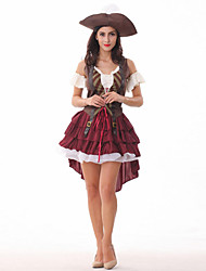 abordables -Pirate Costume de Cosplay Femme Halloween Carnaval Nouvel an Le Jour des enfants Fête / Célébration Déguisement d'Halloween Couleur Pleine