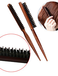 1Pcs Brand New High Quality Wood Handle Natural  Hair Brush Fluffy Comb Hairdressing Barber Tool