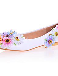 Da donna-Ballerine-Matrimonio Formale Serata e festa-Comoda Innovativo Scarpe Flower Girl-Piatto A stiletto-Vernice-Bianco Blu