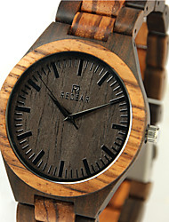 Men's Wrist watch Wood Watch Japanese Quartz Japanese Quartz Wooden Wood Band Cool Beige