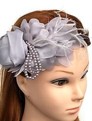 abordables -diadema de tiaras de tela diadema de flores estilo femenino clásico
