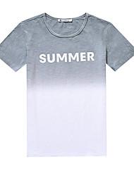underskrive kortærmet sommer T-shirt tidevandet mandlig små friske gradient koreanske mænd slank rund hals T-shirt