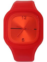 cheap -Women's Quartz Wrist Watch Hot Sale Silicone Band Casual Fashion Red Green Pink