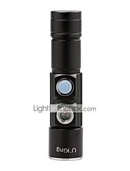 Недорогие -U'King Светодиодные фонари Светодиодная лампа lm 5 Режим Cree XP-E R2 Масштабируемые Фокусировка Компактный размер Маленький размер