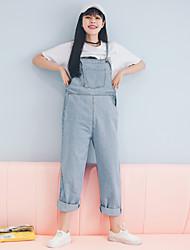 2017 nouvelle version coréenne de combinaisons de denim décontractées pantalons de harem en vrac femmes étudiantes de bonne qualité