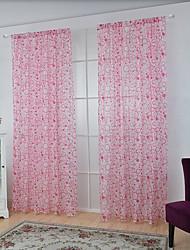 Un pannello Trattamento finestra Neoclassicismo Europeo , A quadri Salotto Tessuto sintetico Materiale Sheer Curtains ShadesDecorazioni