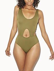 cheap -Women's Bandeau One-pieceCutout High Rise Midriff-baring Fashion Casual Bikini