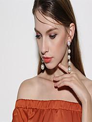 economico -ORECCHINI Perle finte Pendente Personalizzato Euramerican Perle finte Di tendenza Perle finte Circolare Bianco Gioielli PerFeste