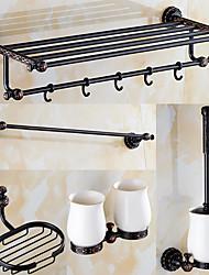 Jogo de Acessórios para Banheiro / Bronze Com Banho de Óleo Antigo