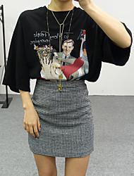 modelli di base retrò stampa a pois tesoro barbie era sottile t-shirt casuale