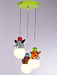 Animal shape 3-light Pendant Lights Living Room Bedroom Dining Room Kids Room Light Fixture