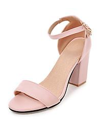 economico -Per donna Scarpe PU (Poliuretano) Estate Autunno Club Shoes Sandali Quadrato Punta tonda Fibbia per Casual Ufficio e carriera Formale