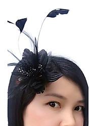 Piume Copricapo-Matrimonio Occasioni speciali Copricapo Fiori Cappelli Veli corti Ghirlande di fiori 1 pezzo