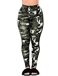 Da donna A vita alta Semplice Attivo Micro-elastico Pantaloni della tuta Pantaloni,Skinny Mimetico