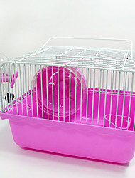cheap -Rodents Chinchillas Hamster Plastic Metal Portable Multi-function Cosplay Cages Coffee Blue Pink