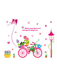 cheap -Wall Stickers Wall Decals Style Bonsai Card Bicycle PVC Wall Stickers