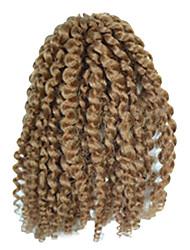 1 Pack 8inch Light Brown Curly Afro Kinky Mali Bob Braids Hair Extensions Kanekalon Hair Braids 30g (5-6packs/head)