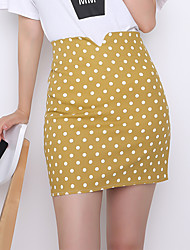 Sign summer cultivating wild pack hip skirt female Korean small fresh wave point high waist A-line skirts