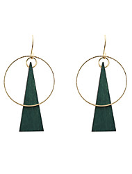 cheap -Women's Drop Earrings Unique Design Euramerican Fashion Wood Alloy Triangle Circle Geometric Jewelry Wedding Party Daily Casual Sports