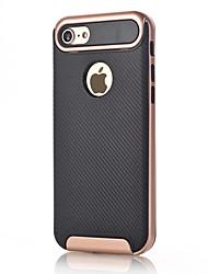 economico -Per Resistente agli urti Custodia Custodia posteriore Custodia Tinta unita Resistente Fibra di carbonio per AppleiPhone 7 Plus iPhone 7