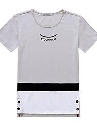 Sign Slim 2017 summer new men's short-sleeved cotton T-shirt Korean students