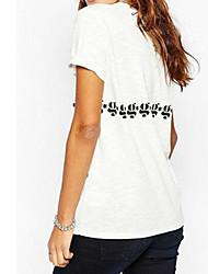T-shirt Da donna Da giorno Shopping Festa dei 18 anni Scuola Appuntamento Strada Attivo Estate,Sexy Di tendenza Rotonda Non disponibile
