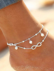 cheap -Double Layered Anklet / Leg Chain - Imitation Pearl Infinity Bohemian, Natural, Fashion Women's Gold / Silver Body Jewelry For Wedding / Birthday / Gift / Casual