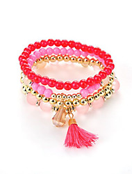 The Latest European And American Women Fashion Multi-Layer Tassel Bracelets