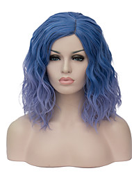European and American fashion daily small and pure and fresh Blue gradient Instant noodles party cos wig 1889