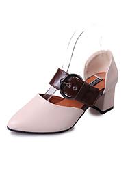 Da donna Sandali Club Shoes PU (Poliuretano) Primavera Estate Casual Formale Serata e festa Club Shoes Fibbia Quadrato Beige Giallo Verde
