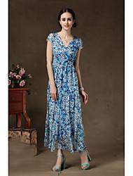 le donne trascorrono tre sezioni cuciture gonna di chiffon marina grande pannello esterno del vestito chiffon le offerte speciali