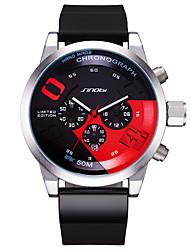 baratos -SINOBI Homens Quartzo Único Criativo relógio Relógio Esportivo Chinês Calendário Impermeável Mostrador Grande Punk Cronômetro Resistente