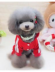 Hund Mäntel Hundekleidung Niedlich Prinzessin Grau Gelb Rot Blau