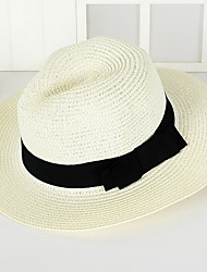 cheap -Unisex Vintage Cute Party Work Casual Straw Hat Sun Hat - Solid Colored
