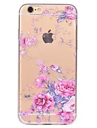 preiswerte -Für iPhone X iPhone 8 Hüllen Cover Transparent Muster Rückseitenabdeckung Hülle Blume Weich TPU für Apple iPhone X iPhone 8 Plus iPhone 8