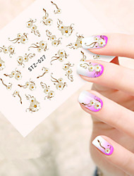 5pcs/set Hot Fashion Nail Art Sticker Sweet Style Beautiful Flower Nail Water Transfer Decals Sweet Flower Design STZ-027