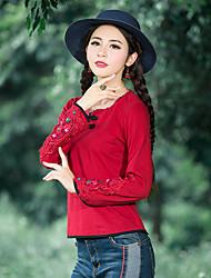 2016 dongkuan национальный ветер ретро рубашка минималистский способ был тонким пальто