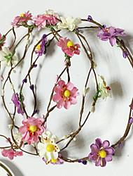Недорогие -искусственная кожа пластиковые цветы венки головной убор классический женский стиль
