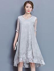 2017 spring new temperament lady silkworm silk dress ol temperament long A-line skirt