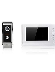 cheap -7 inch Big Screen Video Door Phone One To One Doorbell for Intercom Door Entry System