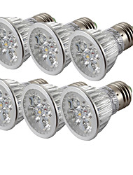 cheap -6pcs 4W 360lm E26 / E27 LED Spotlight 4 LED Beads High Power LED Cold White 85-265V