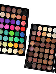 40 Colors  Eyeshadow,  2PCS Mixed Color Sery Palettes in 1 Pack Ombretti Secco Satinato Luccicante Uomini e donne Lady OcchiEffetto