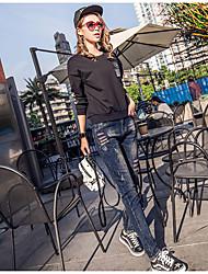 signer de nouveaux modèles de printemps denim pantalon sarouel femmes pantalon lâche effondrement considérablement pantalon mince jambe