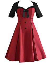 cheap -Women's Plus Size Daily Sophisticated Sheath Dress